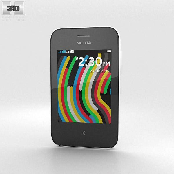 Nokia Asha 230 White 3d model