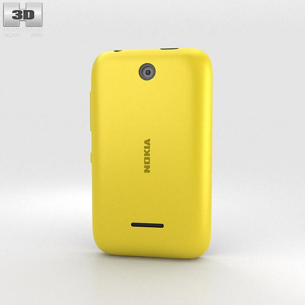 Nokia Asha 230 Yellow 3d model