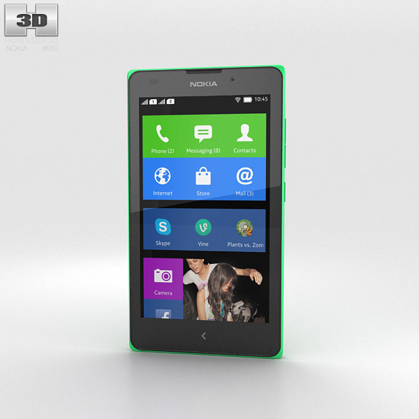 3D model of Nokia XL Bright Green