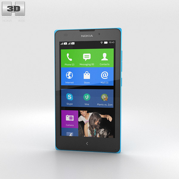 3D model of Nokia XL Cyan