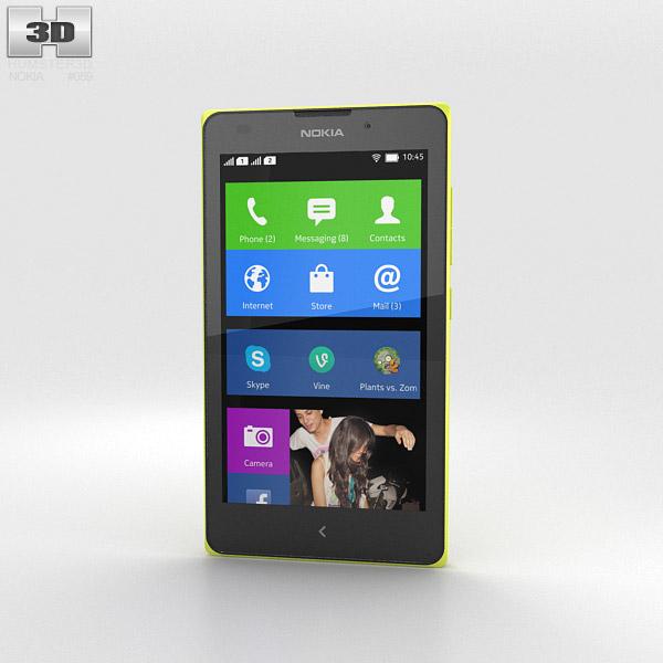 Nokia XL Yellow 3d model