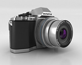 3D model of Olympus OM-D E-M10 Silver