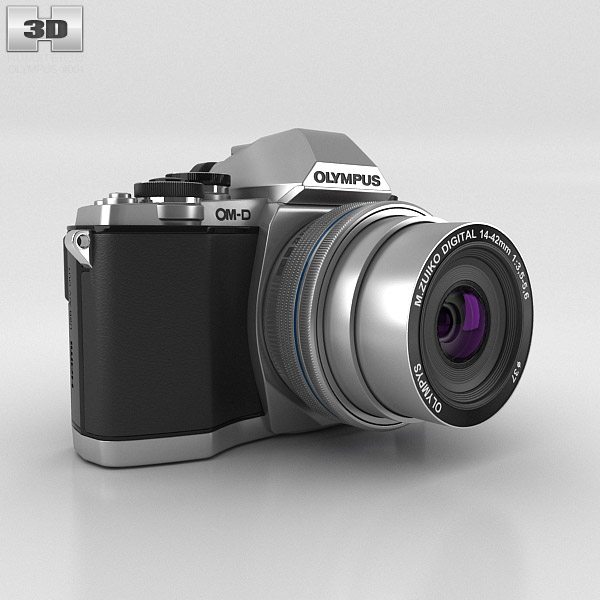 Olympus OM-D E-M10 Silver 3D model