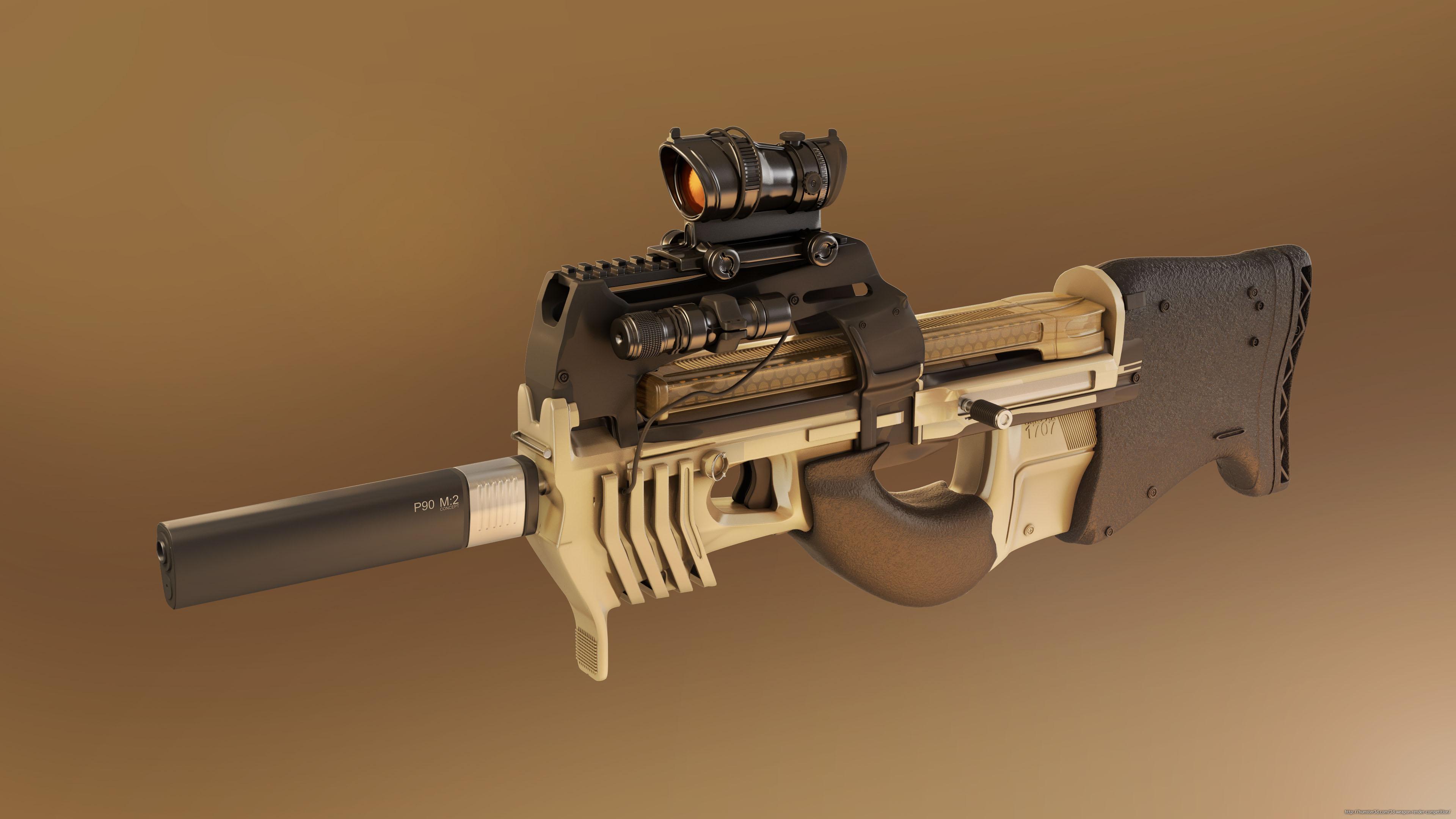 P90M2 Concept 3d art