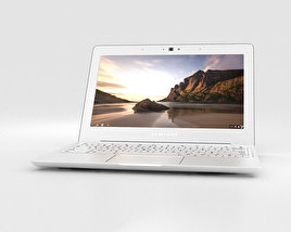 3D model of Samsung Chromebook 2 11.6 inch Classic White