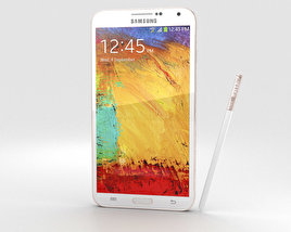 3D model of Samsung Galaxy Note 3 Rose Gold White