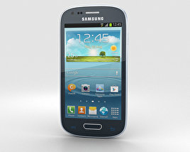 3D model of Samsung Galaxy S III Mini Blue