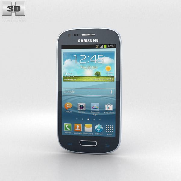 Samsung Galaxy S III Mini Blue 3d model