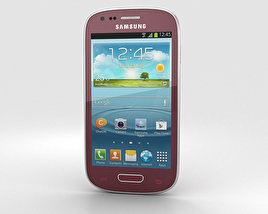 3D model of Samsung Galaxy S III Mini Garnet Red
