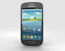 3D model of Samsung Galaxy S III Mini Onyx Black