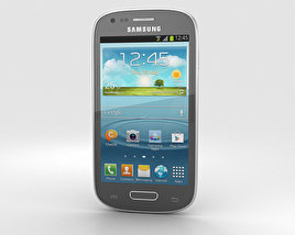3D model of Samsung Galaxy S III Mini Titan Gray