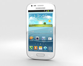3D model of Samsung Galaxy S III Mini White