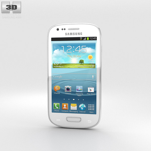 Samsung Galaxy S III Mini White 3d model