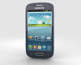 3D model of Samsung I8200 Galaxy S III Mini VE Blue