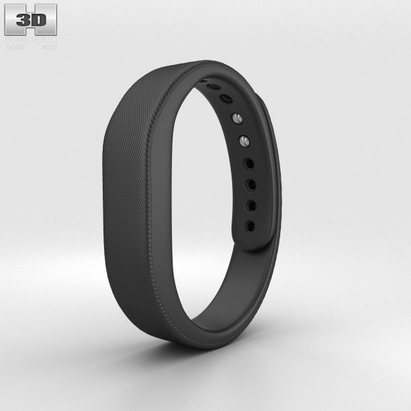 Sony Smart Band SWR10 Black 3d model