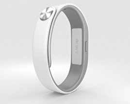 3D model of Sony Smart Band SWR10 White