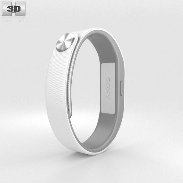 Sony Smart Band SWR10 White 3D model