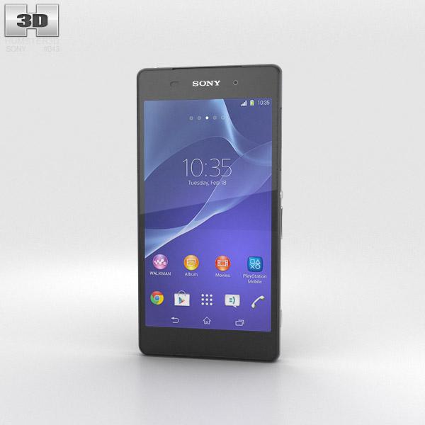 Sony Xperia Z2 Black 3d model