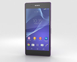 3D model of Sony Xperia Z2 Purple