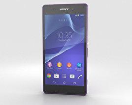 Sony Xperia Z2 Purple 3D model