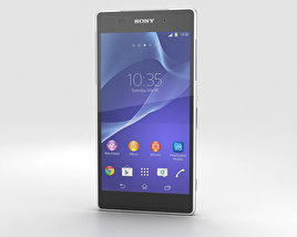 Sony Xperia Z2 White 3D model