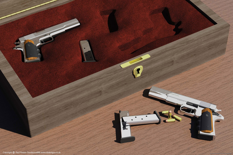 Hitman AMT Hardballers 3d art