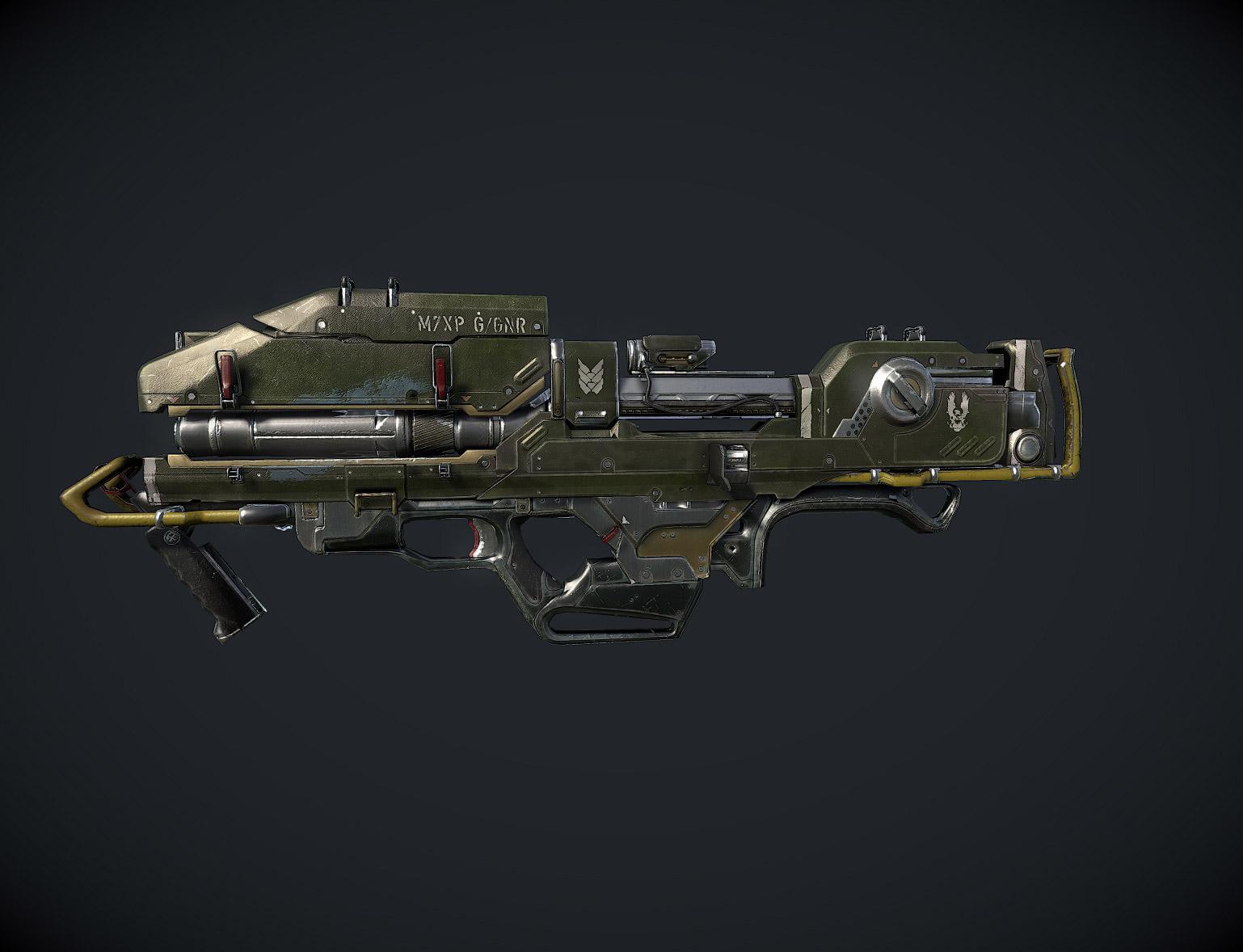 Spartan Laser 3d art