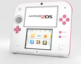 3D model of Nintendo 2DS Peach Pink