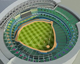 3D model of Rogers Centre Baseball Stadium