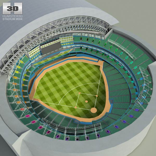 Rogers Centre Baseball Stadium 3D model