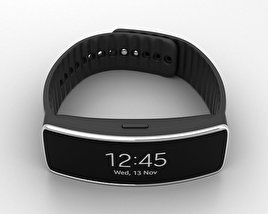 3D model of Samsung Gear Fit Black