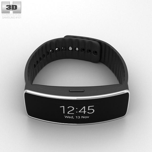 Samsung Gear Fit Black 3d model
