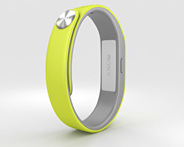 3D model of Sony Smart Band SWR10 Yellow
