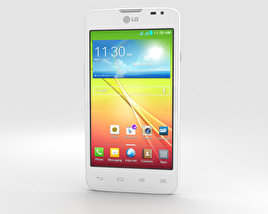3D model of LG L65 Dual White