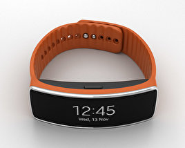 3D model of Samsung Gear Fit Orange