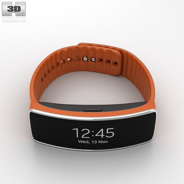 Samsung Gear Fit Orange 3d model