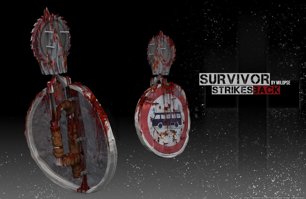 Suvivor - Strikes Back 3d art