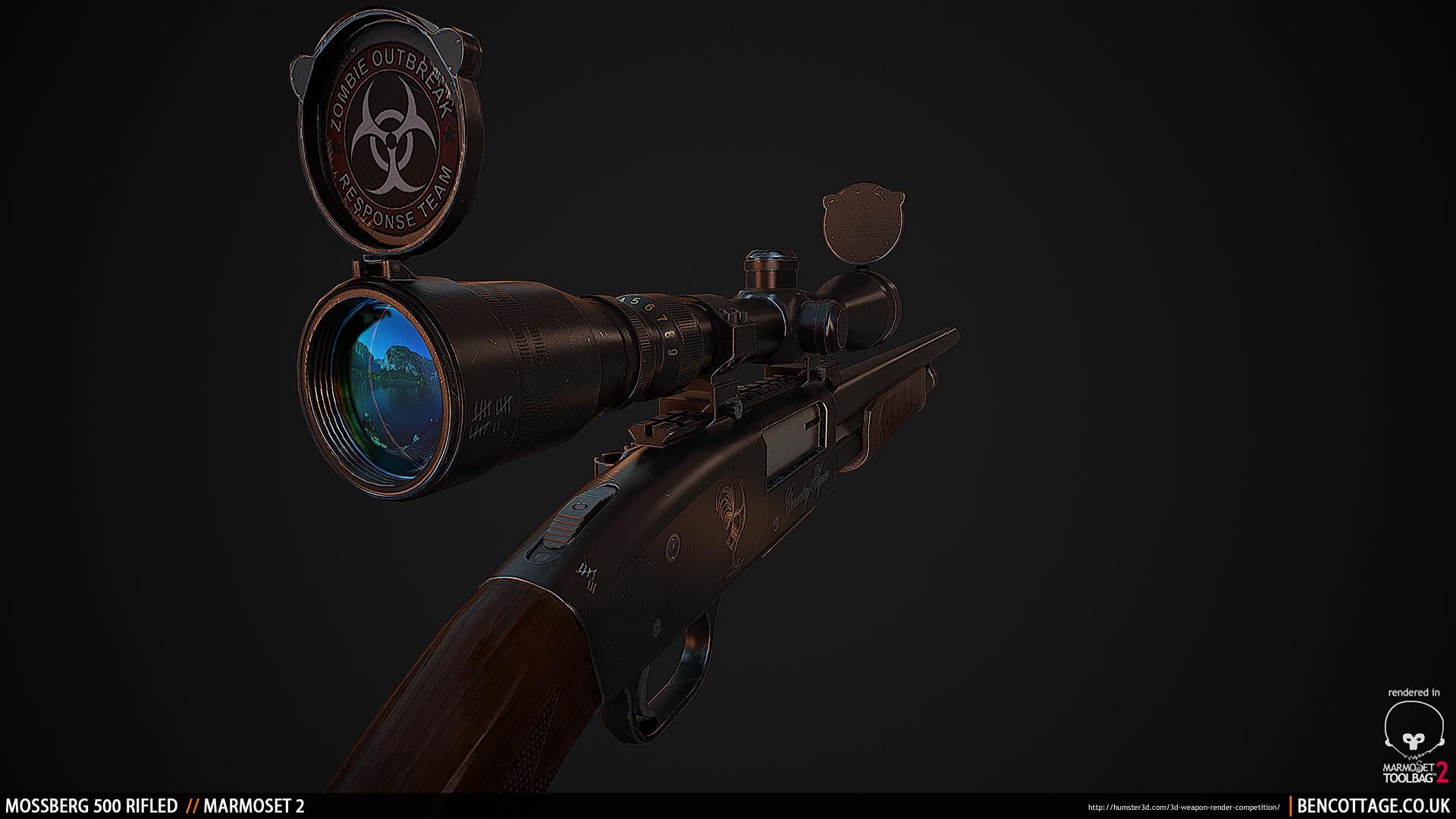 Mossberg 500 Rifled 3d art