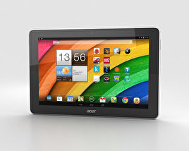 3D model of Acer Iconia Tab A3 White