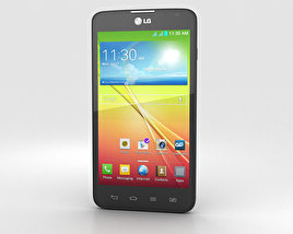 3D model of LG L70 Dual Black