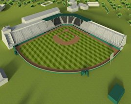 3D model of Little League Volunteer Baseball Stadium