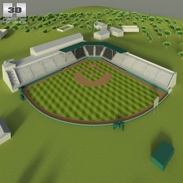 Little League Volunteer Baseball Stadium 3D model