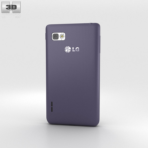 LG Optimus F3 Purple 3d model