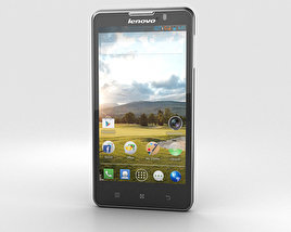 3D model of Lenovo P780 Black