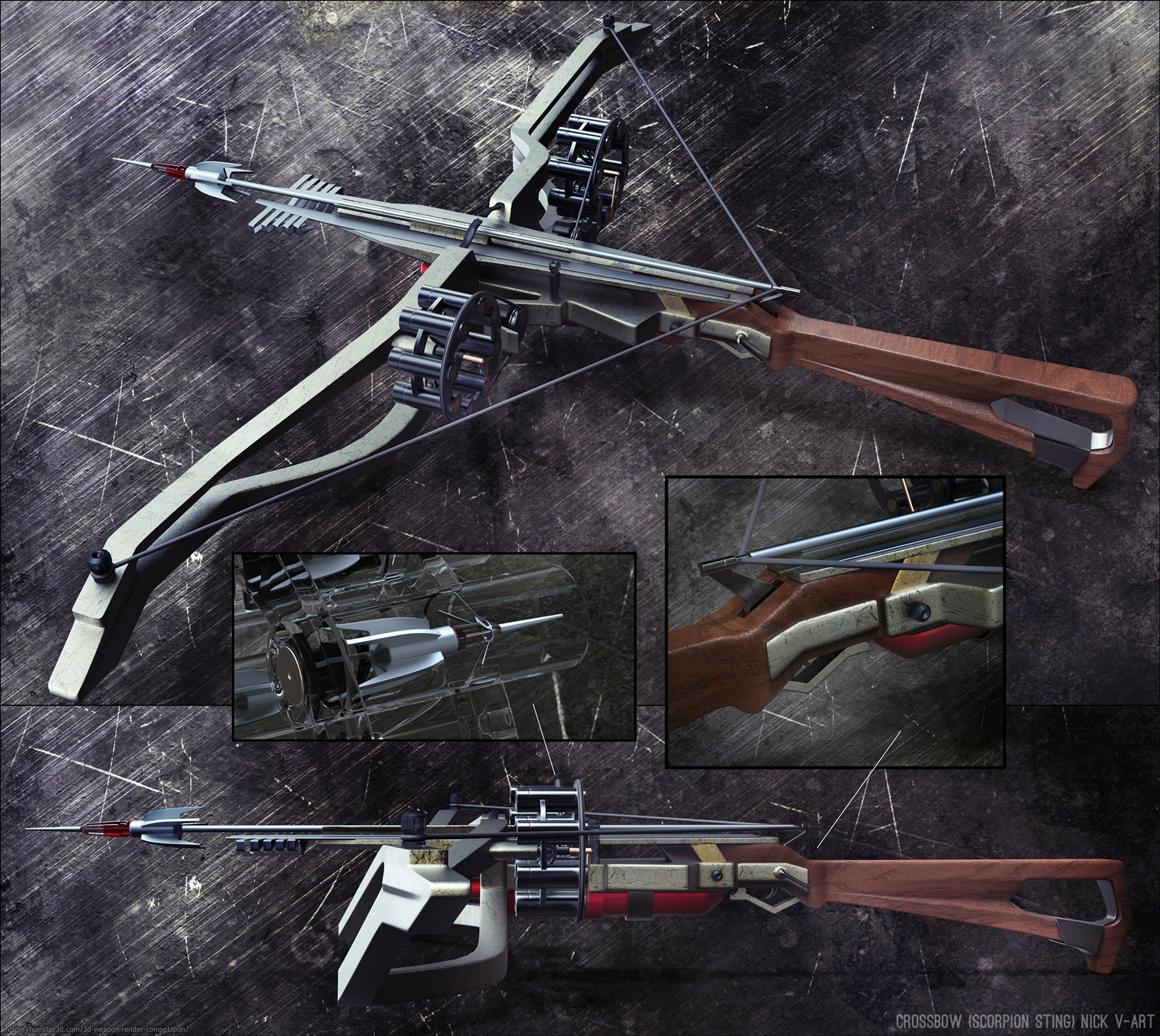 Crossbow (scorpion sting) 3d art