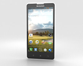3D model of Lenovo P780 White
