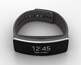 3D model of Samsung Gear Fit Mocha Grey