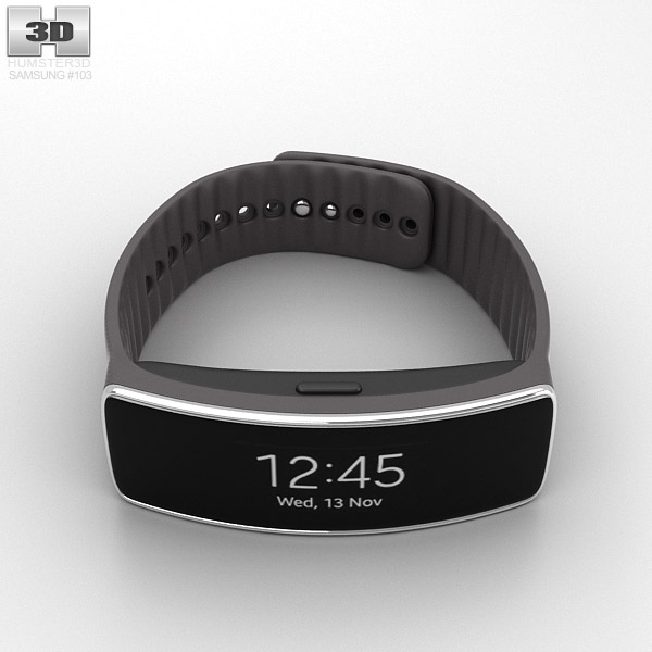 Samsung Gear Fit Mocha Grey 3d model
