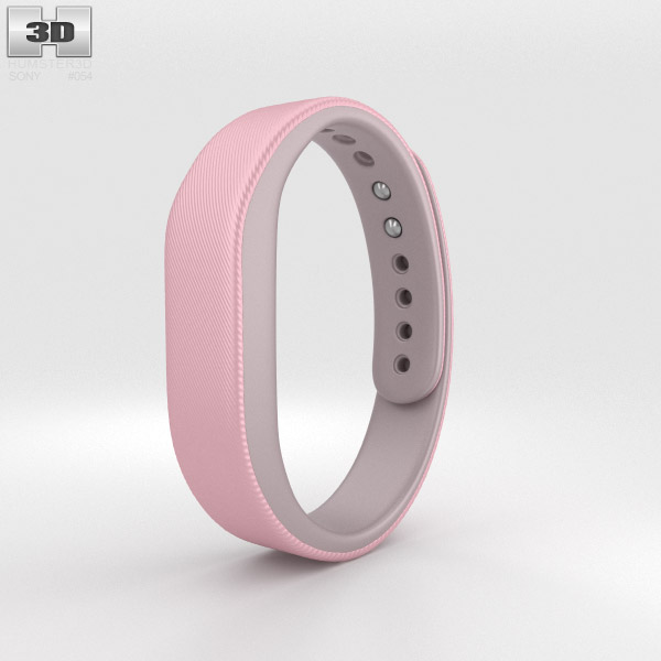 Sony Smart Band SWR10 Pink 3d model