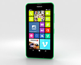 3D model of Nokia Lumia 630 Bright Green